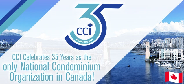 CCI Celebrates 35 Years as the only National Condominium Organization in Canada!